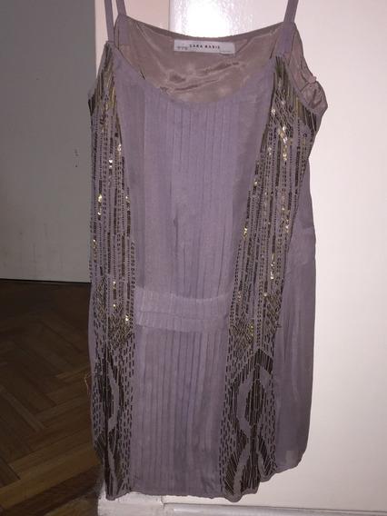 Vestido Canutillos Lentejuelas Original Zara