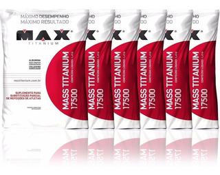 Combo 6x Mass Titanium 8400g Sabores Max Titanium Hipercal
