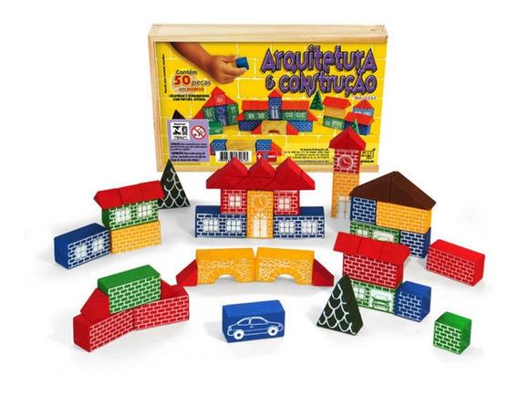 Blocos De Montar 50 Peças - Brinquedo Educativo