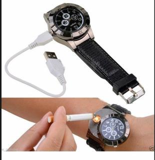 Reloj Encendedor Electrónico Recargable De Usb