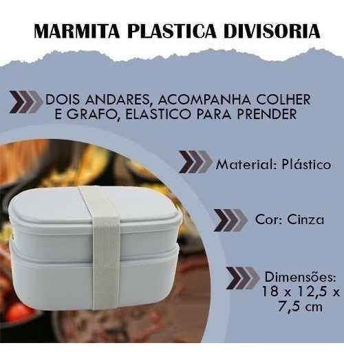 Marmita Plastica Divisoria Armário Cozinha Tupperware Mesa