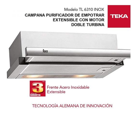 Campana Purificador Teka Tl6310 Extensible Inoxidable 60cm