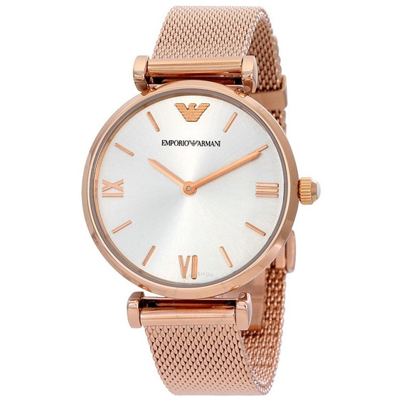Reloj Análogo Marca Armani Modelo: Ar1956 Color Oro Rosa Par