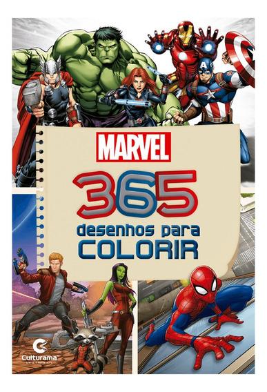 Livro Infantil 365 Desenhos Marvel Para Colorir Culturama