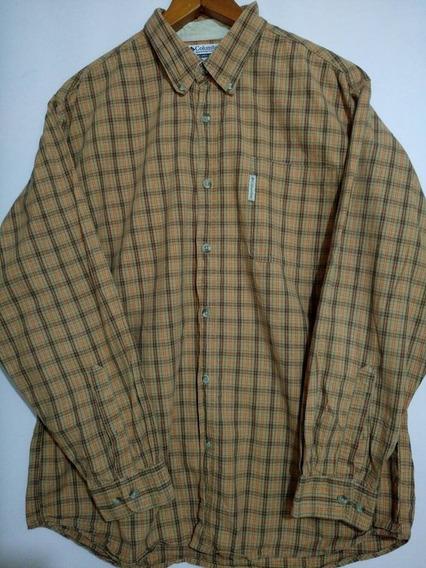 Camisa Columbia Hombre Talla Xl Manga Larga