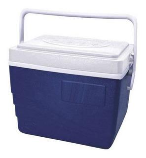 Caixa Térmica 15 Litros Cooler 21 Latas Com Alça Azul
