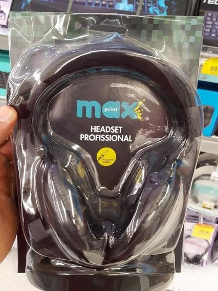 Fone De Ouvido Headset Profissional Max Print P2(novo)