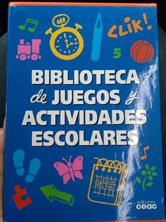 Enciclopedia Biblioteca De Juegos Y Actividades Escolares.