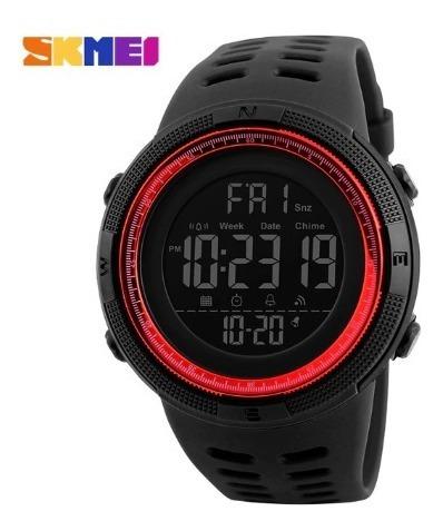 Relógio Digital Skmei 1251 A Prova De Agua Preto / Vermelho