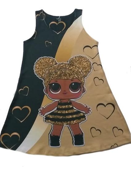 Vestido Infantil Lol Trapézio Suplex Queen Bee, Unicórnio