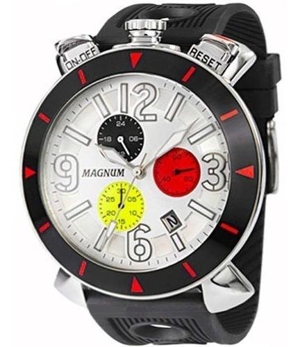Relógio Magnum Masculino Cronógrafo Preto Original Ma33344q