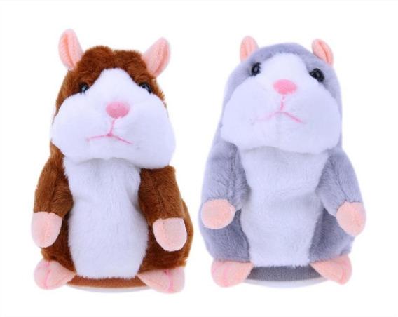 Brinquedo Hamster Rato Falante De Pelúcia Pronta Entrega