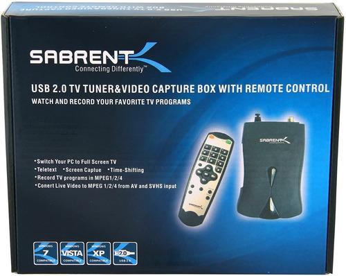 Sintonizador Video Tv Tuner Usb 2.0 Grabadora Mando Distanci