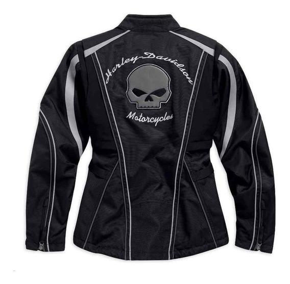 Harley Davidson Jaqueta Feminina Skull Illimination Original