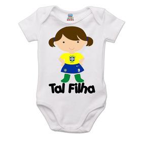 Body Tal Filha Seleção Brasileira Copa 2018 Frete Gratis