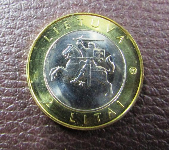 Lituania Moneda 2 Litai 2012 Unc Bimetalica