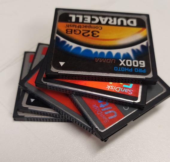 Kit 6 Cartões De Memória Cf Compactflash 16gb 32gb E 8gb