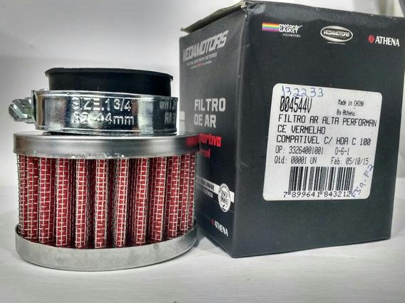 Filtro Ar 33mm Biz Pop 100vermelho Esportivo Vedamotors