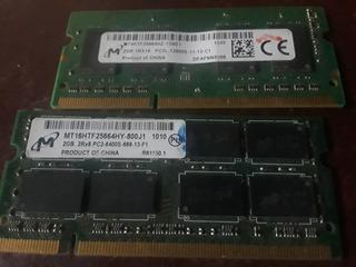2 Memorias Ram Para Laptop