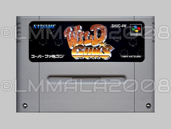 Original Wild Guns Ingles Snes Super Famicom Super Nintendo