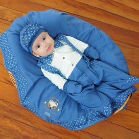 Kit Saida Maternidade Azul Royal Menino Raposinha Bebe