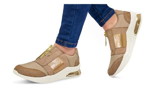 Calzado Zapato Comodo Dama Mujer Confort Piel Genuina Beige