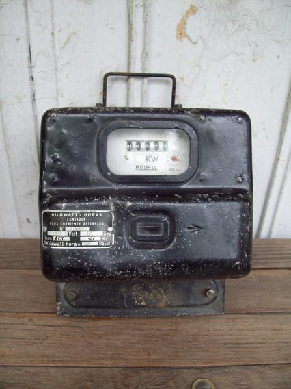 Antiguo Medidor De Corriente Electrica Decoracion