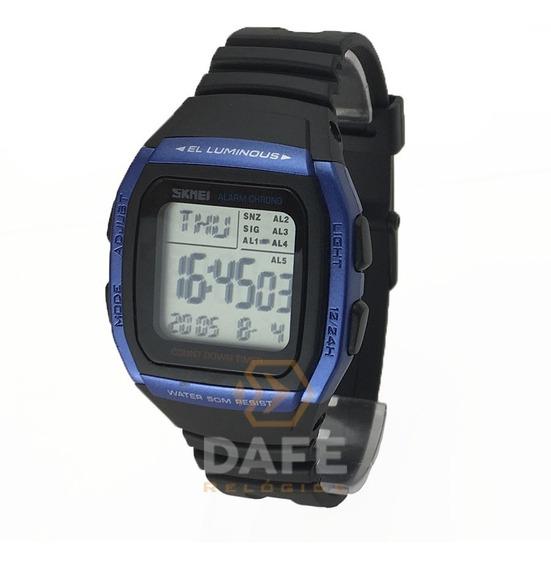 Relógio Unissex Skmei 1278 Digital 5 Alarmes C/ Caixa E Nf