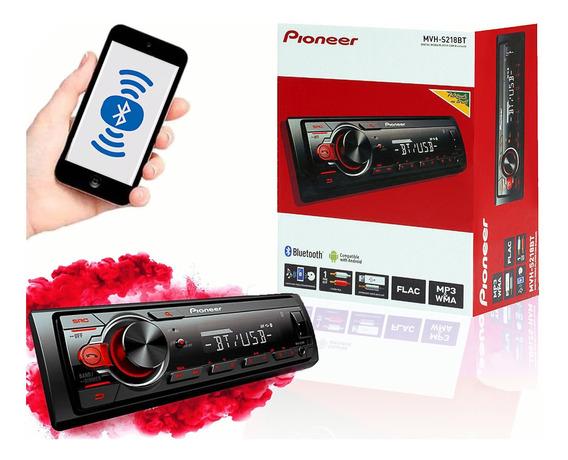 Auto Rádio Pioneer Mvh-s218bt Bluetooth Viva Voz Usb E Radio