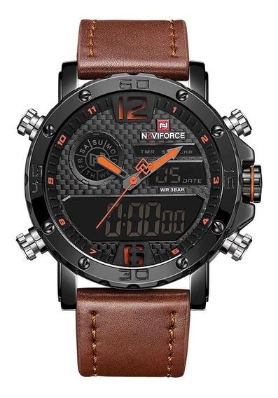 Relógio Naviforce Nf 9134 Funcional Analógico/digital +caixa