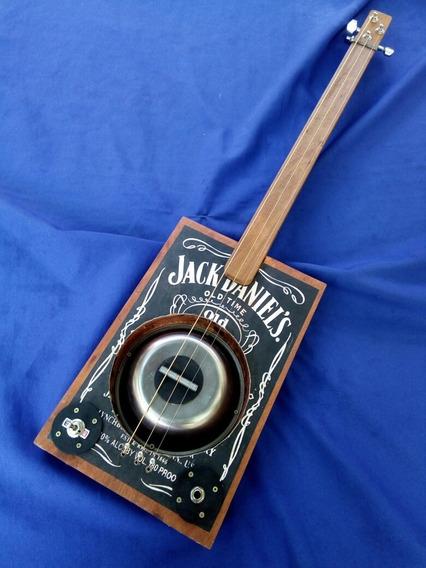 Cigar Box Guitar En Stock Mic Piezo S/traste Gaucho Box