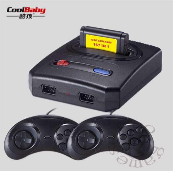 Super Mini Md Retro Mega Drive 16bits 167 Jogos