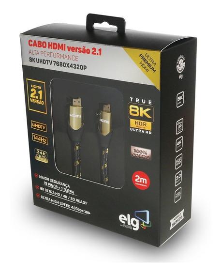 Cabo Hdmi 2.1 8k Ultra High Speed Ethernet 2 Mts Hs8k20 ELG