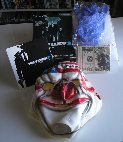 Kit Acessórios Payday 2 Collectors Edition Ps3 Sem O Jogo