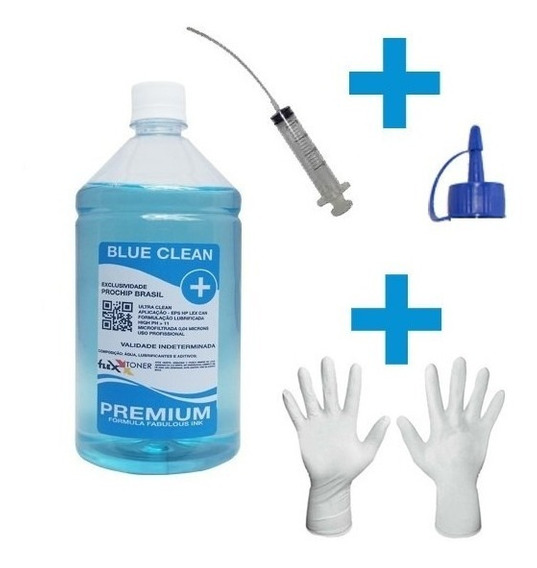 1lt Solução De Limpeza Clean Desentupidora De Cartuchos Hp