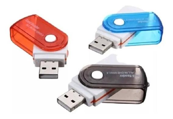 Leitor Gravador 2.0 Cartão Memória, Pro Duo,sd, M2, Micro Sd