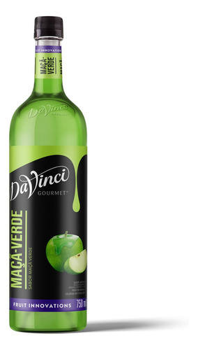 Xarope Da Vinci Sabor Maçã Verde (green Apple) 750ml - Pet
