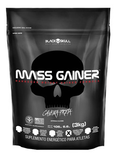 Mass Gainer 3 Kg Hipercalórico - Black Skull
