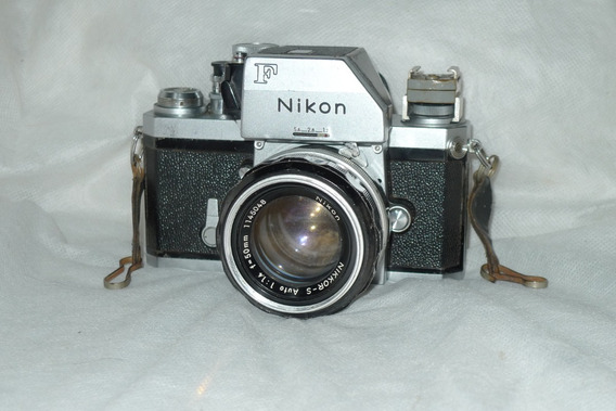 Câmera Nikon F Lente Nikkor 50 Mm 1: 1.4 Rara 1972 Dslr