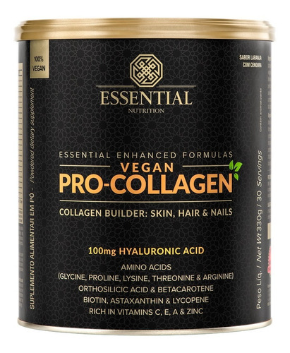 Vegan Pro-collagen 330g - Essential Nutrition / Com Nf