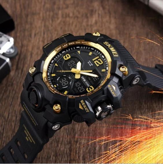 Relógio Skmei Original Dourado 1155 B Prova D