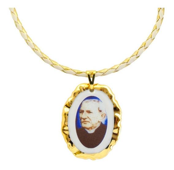 Corrente Com Pingente Fé Medalha Padre Cícero Ouro