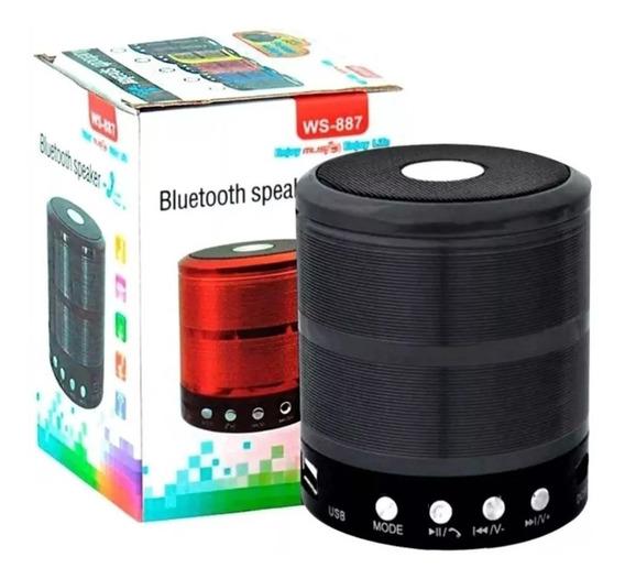 Som Portátil Bluetooth 5w Celular Sd Usb Radio Fm Ws