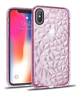 Funda iPhone Solid Diamond 3d Uso Rudo 6 7 8 Plus X Moda