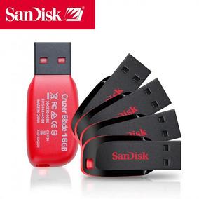 Pen Drive Sandisk 16gb Cruzer Blade Original Frete Grátis