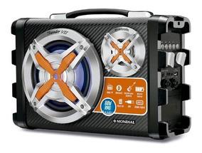 Caixa De Som Mondial Bluetooth 80w Mco-07 Preta - Bivolt