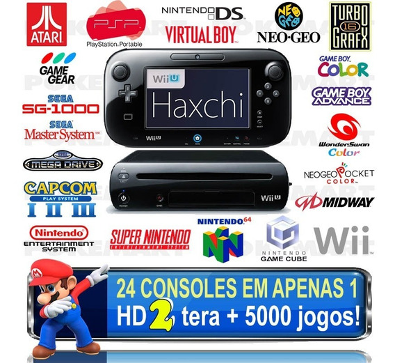 Nintendo Wii U Haxchi Hd 2 Tera 5000 Jogos +6 Meses Garantia