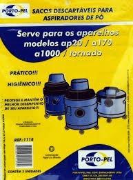 Sacos De Aspirador De Pó Eletrolux Ap20 C/ 3 Unidades