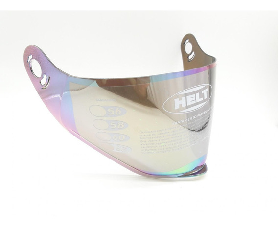 Capacete Viseira Colorida Helt Cross Vision Original