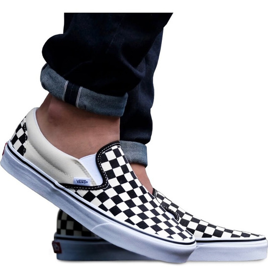 Tenis Vans Slip On Classic Vn000eyebww Checkerboard Unisex